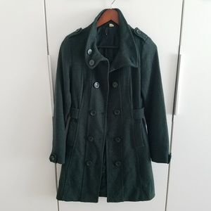 Jackets & Blazers - Long Wool Jacket EUC Dark Forest Green Size 4
